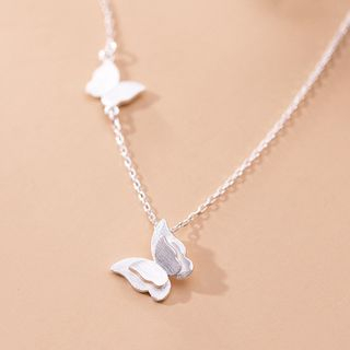 925 Sterling Silver Butterfly Pendant Necklace S925 Silver - Necklace - Silver - One Size from A ROCH