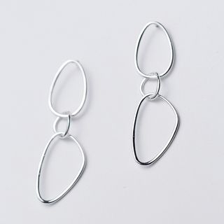 925 Sterling Silver Circle Drop Earring from A ROCH