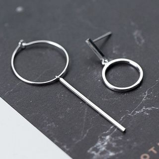 925 Sterling Silver Non-Matching Hoop Earrings from A ROCH