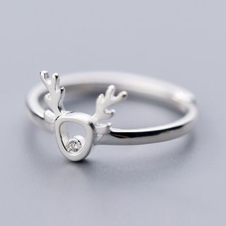 925 Sterling Silver Deer Open Ring As Shown In Figure - One Size from A ROCH