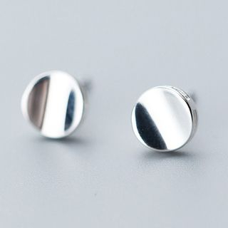 925 Sterling Silver Disc Earrings from A ROCH