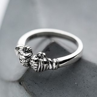 925 Sterling Silver Fist Ring from A ROCH