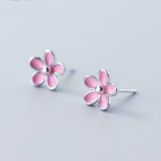 925 Sterling Silver Flower Earring S925 Silver - Earring - One Size from A ROCH