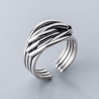 925 Sterling Silver Layered Open Ring Ring - One Size from A ROCH