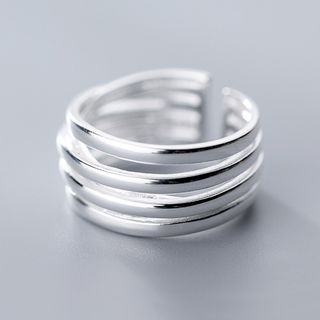 925 Sterling Silver Layered Open Ring Silver - One Size from A ROCH