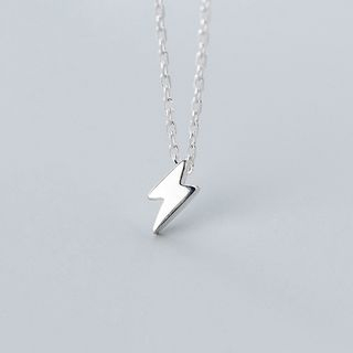 925 Sterling Silver Lightning Pendant Necklace S925 Silver - As Shown In Figure - One Size from A ROCH