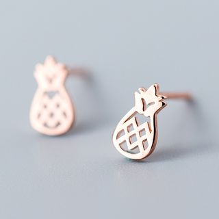 925 Sterling Silver Pineapple Stud Earring from A ROCH
