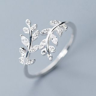 925 Sterling Silver Rhinestone Branches Open Ring S925 Silver - Ring - One Size from A ROCH
