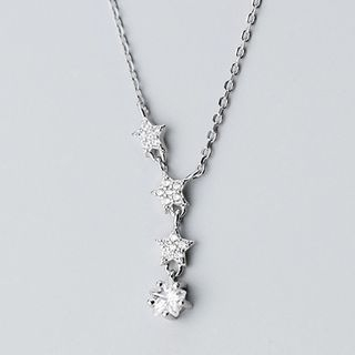 925 Sterling Silver Rhinestone Pendant Necklace S925 Silver - Necklace - One Size from A ROCH