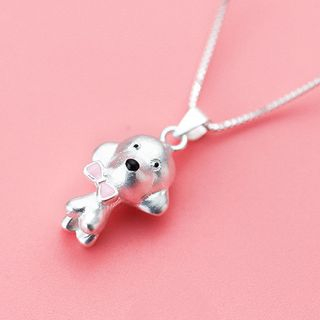 925 Sterling Silver Dog Pendant from A ROCH