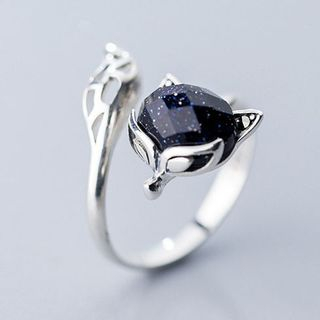 Fox 925 Sterling Silver Open Ring from A ROCH