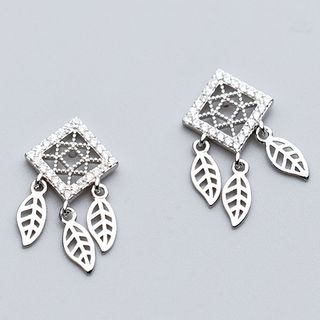 Leaf Earring 925 Sterling Silver - Earring - One Size from A ROCH