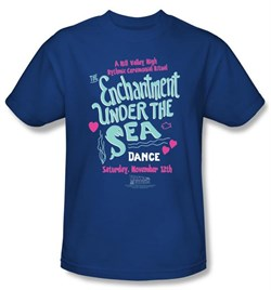 Back To The Future T-shirt Movie Under The Sea Adult Royal Tee Shirt from A&E Designs