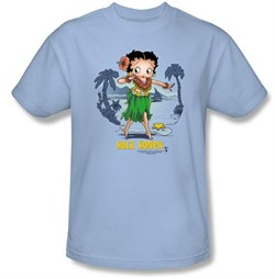 Betty Boop Kids T-shirt Hula Honey Youth Light Blue Tee Shirt from A&E Designs