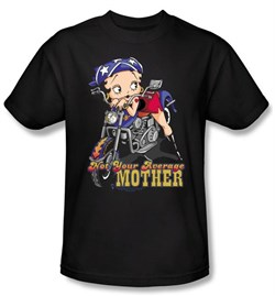 Betty Boop T-shirt Not Your Average Mother Adult Black Tee from A&E Designs