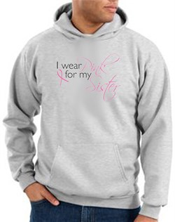 Breast Cancer Hoodie I Wear Pink For My Sister Ash Hoody from A&E Designs