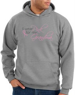 Breast Cancer Hoodie Sweatshirt I Wear Pink For Grandma Heather Hoody from A&E Designs