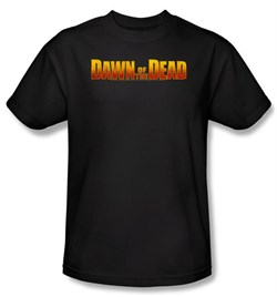 Dawn Of The Dead T-shirt Movie Dawn Logo Adult Black Tee Shirt from A&E Designs