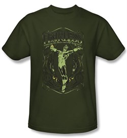 Green Lantern T-shirt Fearless DC Comics Army Green Tee from A&E Designs