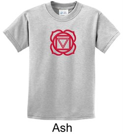 Kids Yoga T-shirt Muladhara Root Chakra Youth Tee Shirt from A&E Designs