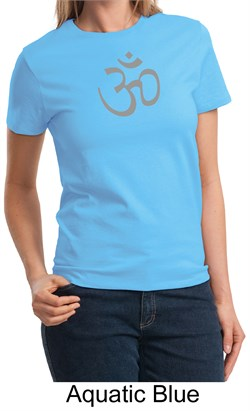 Ladies Yoga T-shirt  Aum Symbol Meditation Tee Shirt from A&E Designs
