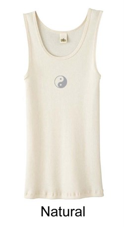 Ladies Yoga Tank  Yin Yang Meditation Organic Tanktop from A&E Designs