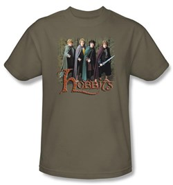 Lord Of The Rings Kids T-Shirt Hobbits Youth Safari Green Tee from A&E Designs