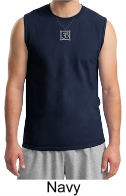 Mens Yoga Shirt  Aum Charm Meditation Adult Muscle Shirt from A&E Designs