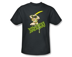 Samurai T-shirt - Samurai Super Friends Adult Charcoal Gray Tee from A&E Designs