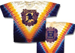 Santana T-shirt - All Is One Classic Rock Tie Dye Tee from A&E Designs