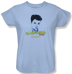 Sixteen Candles Ladies T-shirt Movie Stud Light Blue Tee Shirt from A&E Designs