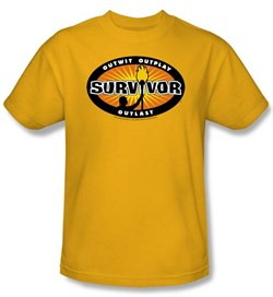 Survivor T-Shirt - Gold Burst Adult Gold from A&E Designs