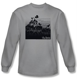 The Birds T-shirt Movie Evil Silver Long Sleeve Tee Shirt from A&E Designs