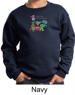 Vegan Kids Sweatshirt  Eat Your Veggies Youth Sweat Shirt from A&E Designs
