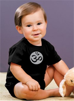 Yoga Romper Om Symbol Small Print Infant Baby Creeper from A&E Designs