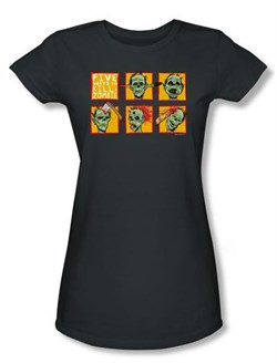 Zombie Juniors T-Shirt Five Ways Charcoal Tee Shirt from A&E Designs