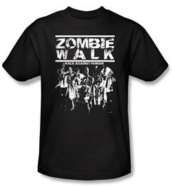 Zombie T-Shirt Walk Adult Black Tee Shirt from A&E Designs