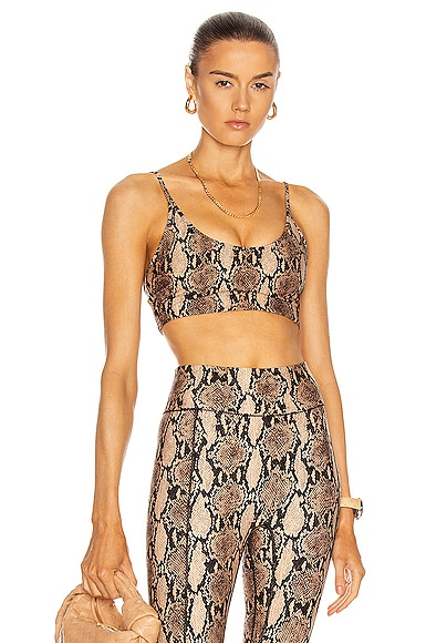 A.L.C. x Bandier Scoop Neck Bralette in Animal Print,Neutral from A.L.C.
