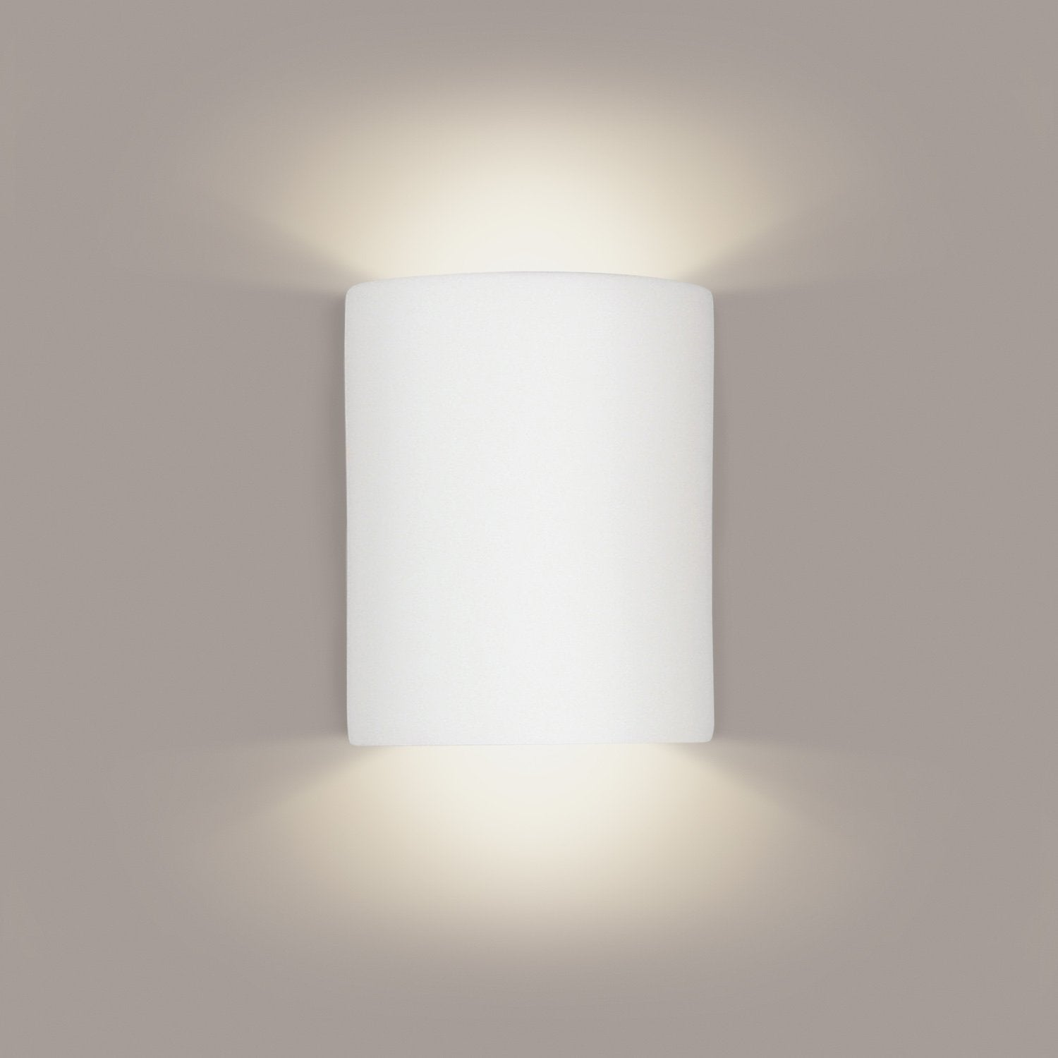A19 212-CFL13-A32 Islands of Light Collection Tilos Cream Satin Finish Wall Sconce from A19