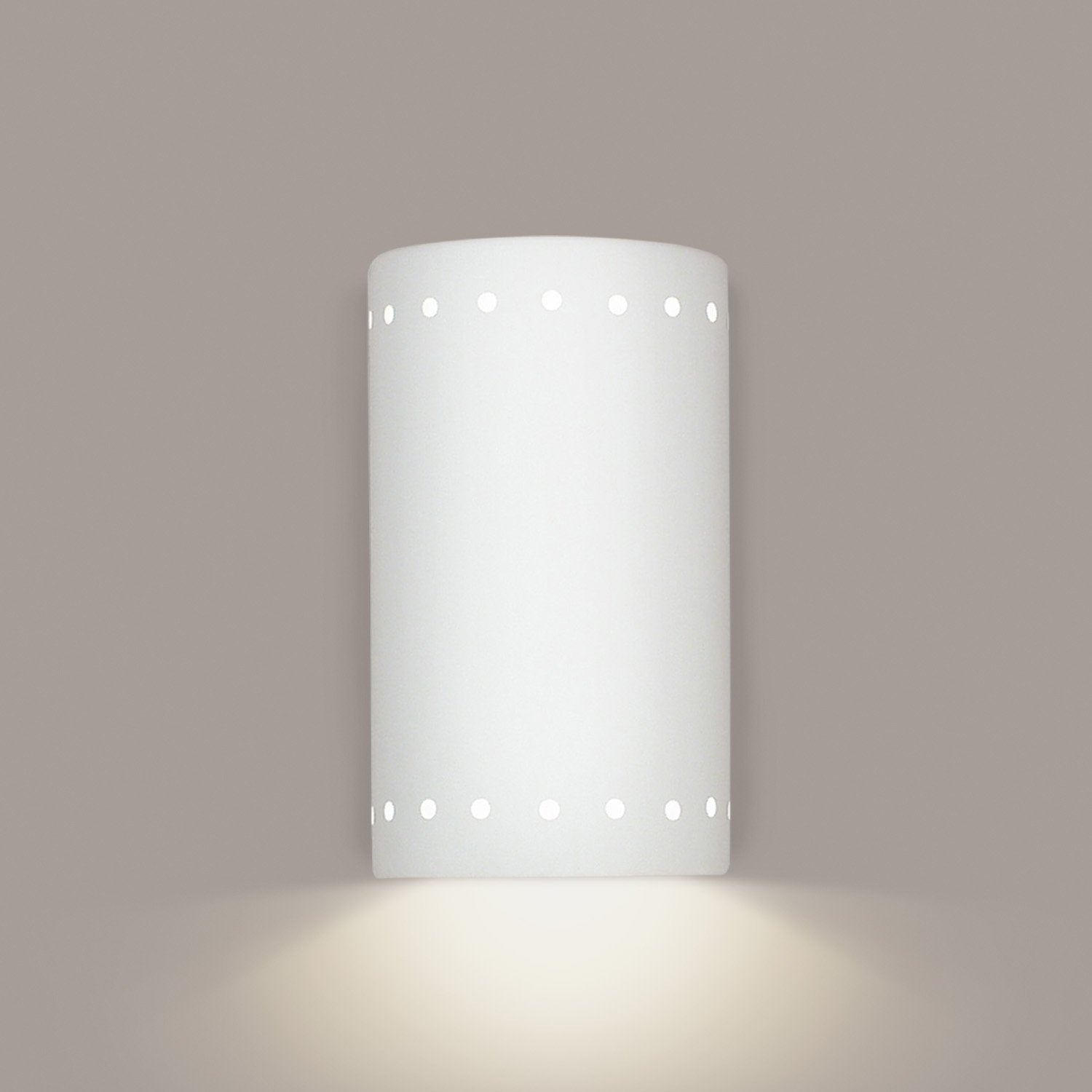 A19 219-GU24-WG Islands of Light Collection Delos White Gloss Finish Wall Sconce from A19