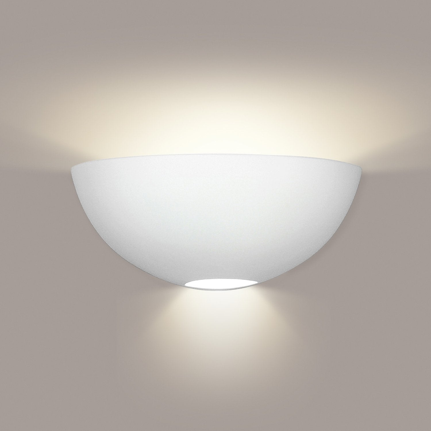 A19 304-WET-GU24-WG Islands of Light Collection Aegina White Gloss Finish Wall Sconce from A19