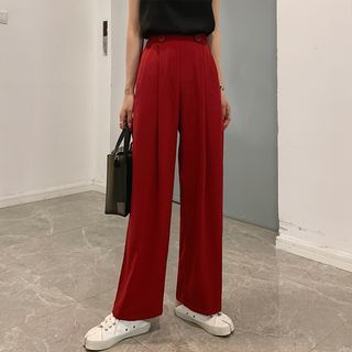 Buttoned Wide-Leg Pants from A7 SEVEN
