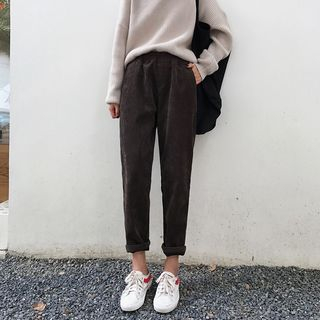 Corduroy Harem Pants from A7 SEVEN
