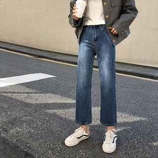 Cropped Straight-Leg Jeans from A7 SEVEN