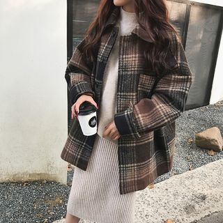 Oversized Plaid Jacket from A7 SEVEN