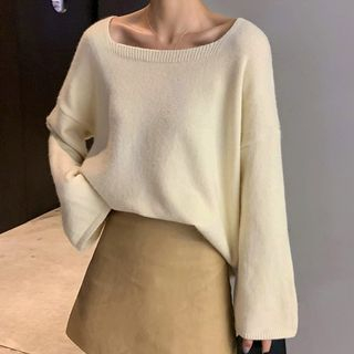 Square Neck Sweater from A7 SEVEN