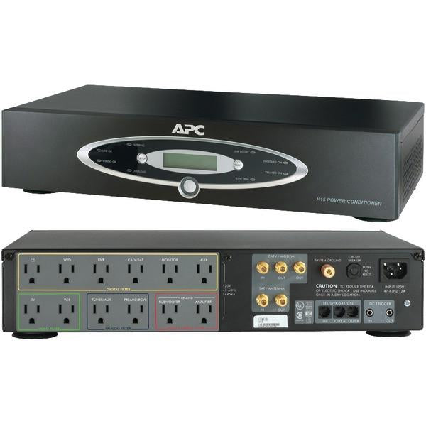 APC H15BLK 12-Outlet H-Type Rack-Mountable Power Conditioner from APC