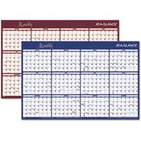 Reversible Horizontal Erasable Wall Planner, 36 x 24, 2019 from AT-A-GLANCE