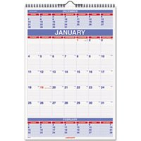 Three-Month Wall Calendar, 15 1/2 x 22 3/4, 2019 from AT-A-GLANCE