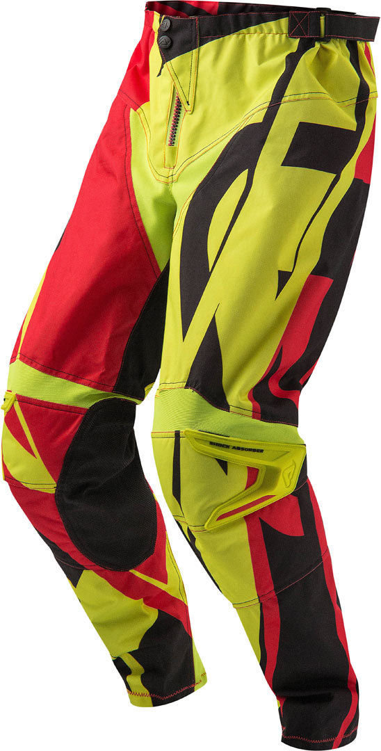 Acerbis Profile Motocross Pants, red-yellow, Size 28, red-yellow, Size 28 from Acerbis